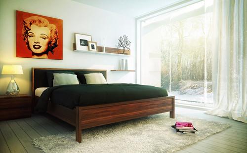 Chọn tranh ảnh phòng ngủ hợp phong thủy